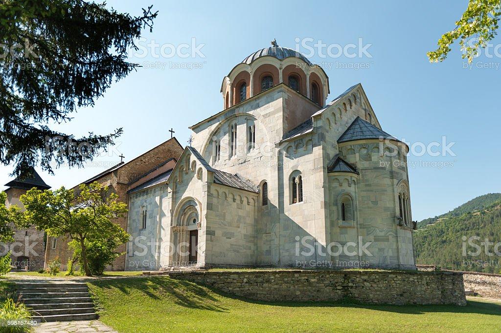 Studenica Monastery in Serbia stock photo