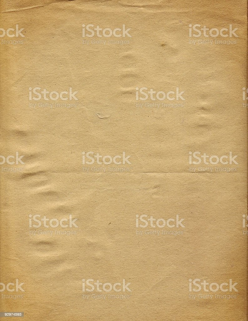 student 70s art - vintage blank paper royalty-free stock photo