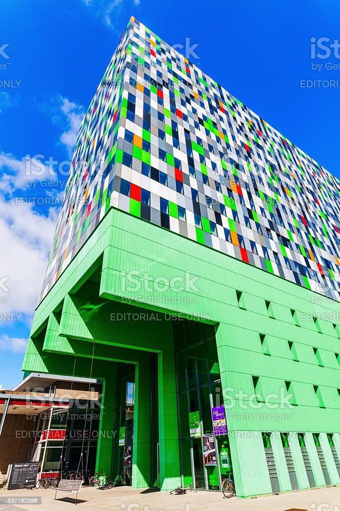 student accommodation building in Utrecht, Netherlands stock photo