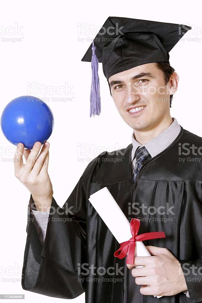 Student and a ball royalty-free stock photo
