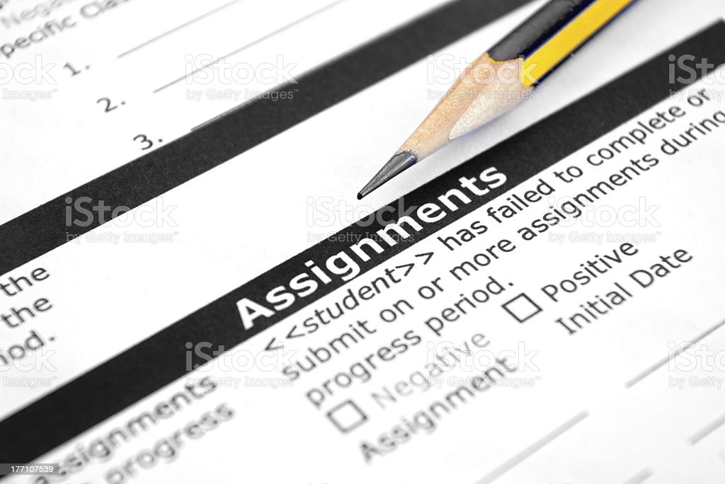 Student Assignement stock photo