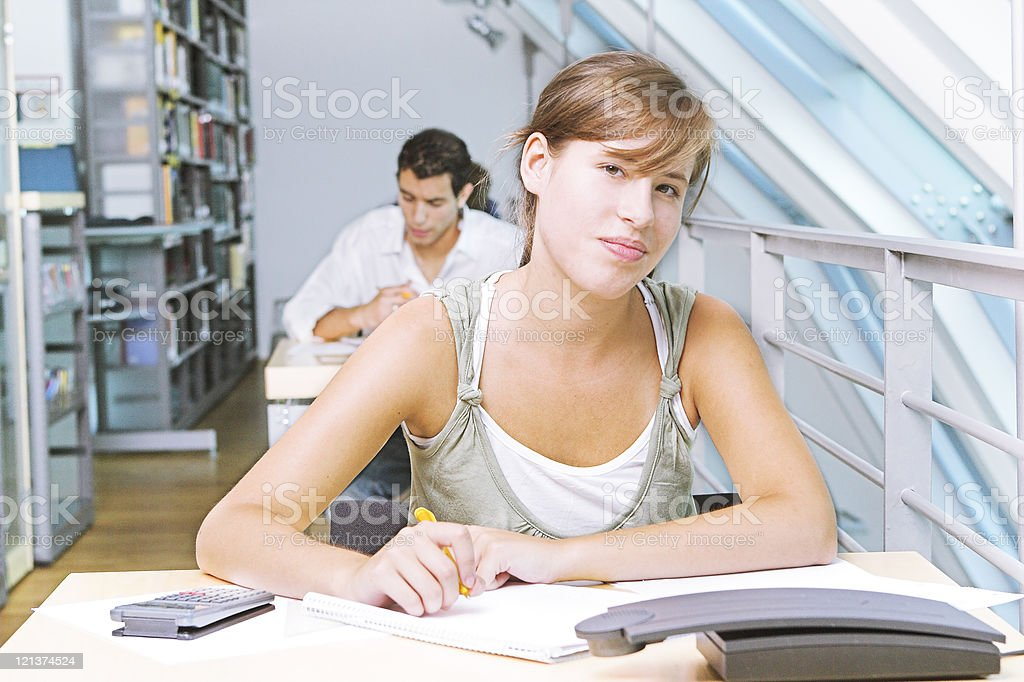Student at an exam royalty-free stock photo