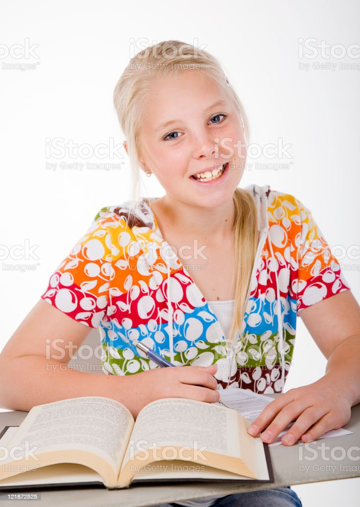 Student at Desk royalty-free stock photo