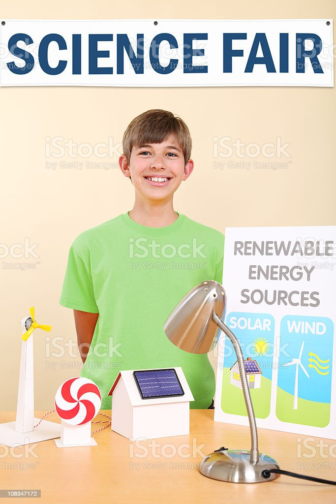 Student At Science Fair royalty-free stock photo