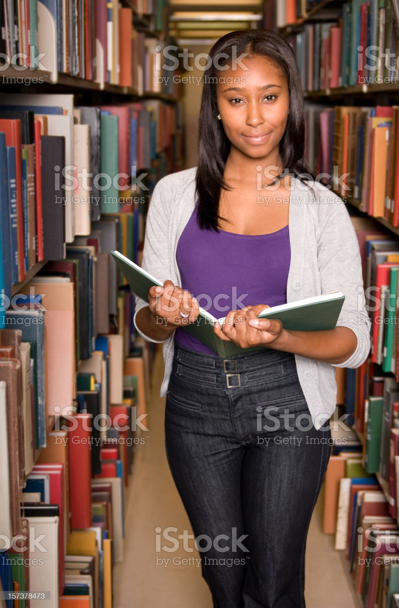 student at the library royalty-free stock photo