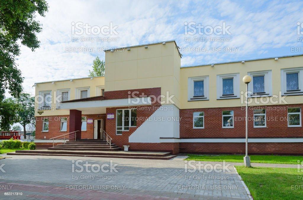 Student canteen of Vitebsk State Medical University, Belarus stock photo