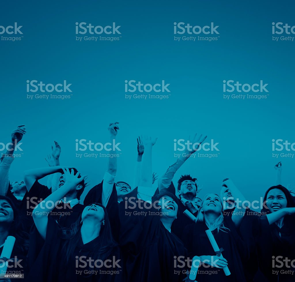 Student Celebration Education Graduation Happiness Concept stock photo