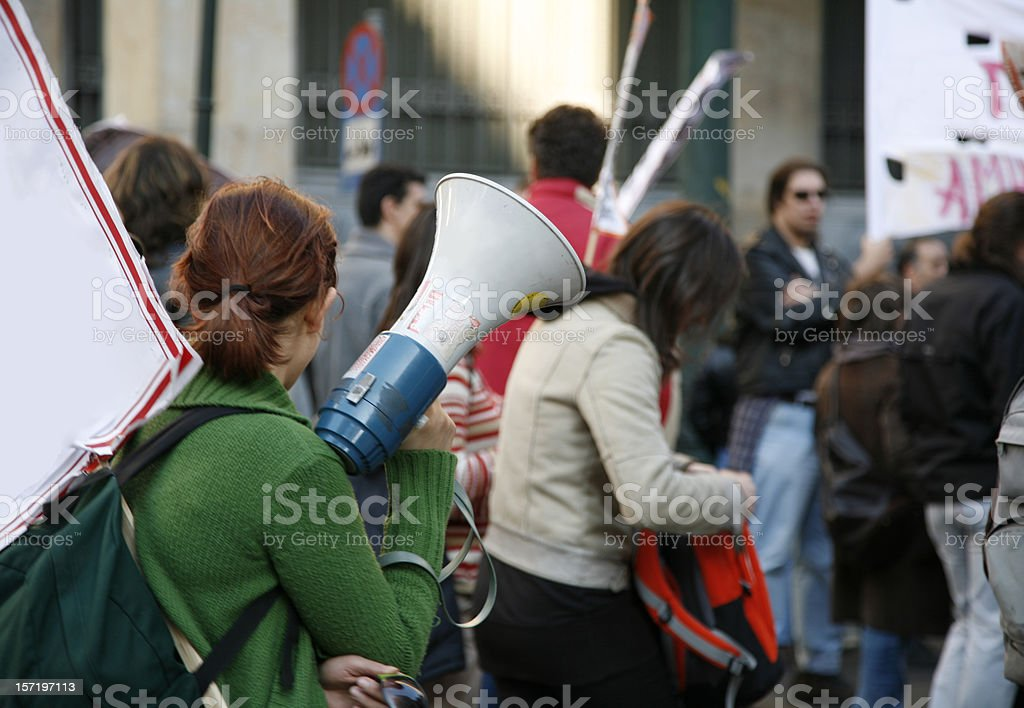 Student demonstration stock photo