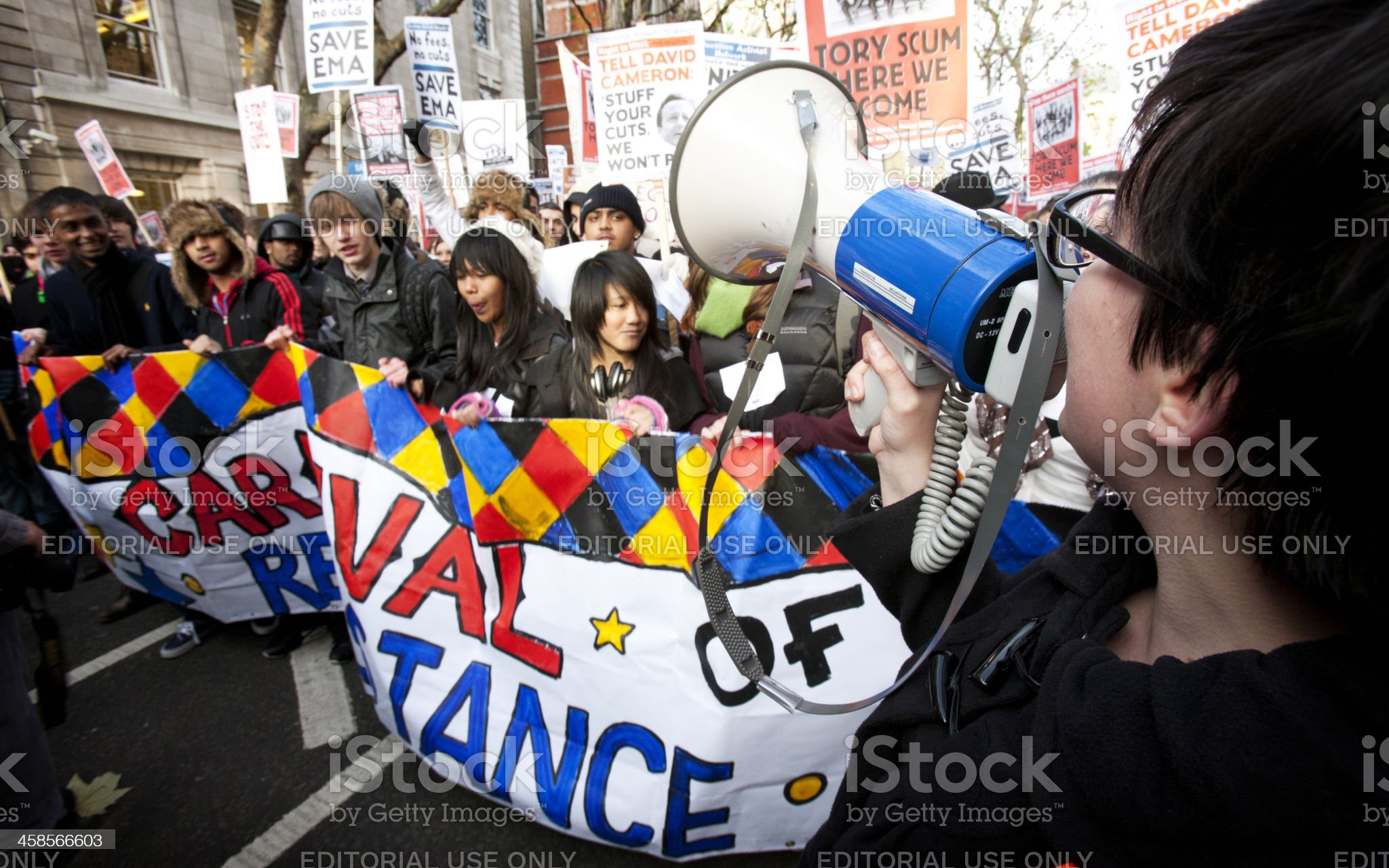 Student Demonstrators, London royalty-free stock photo