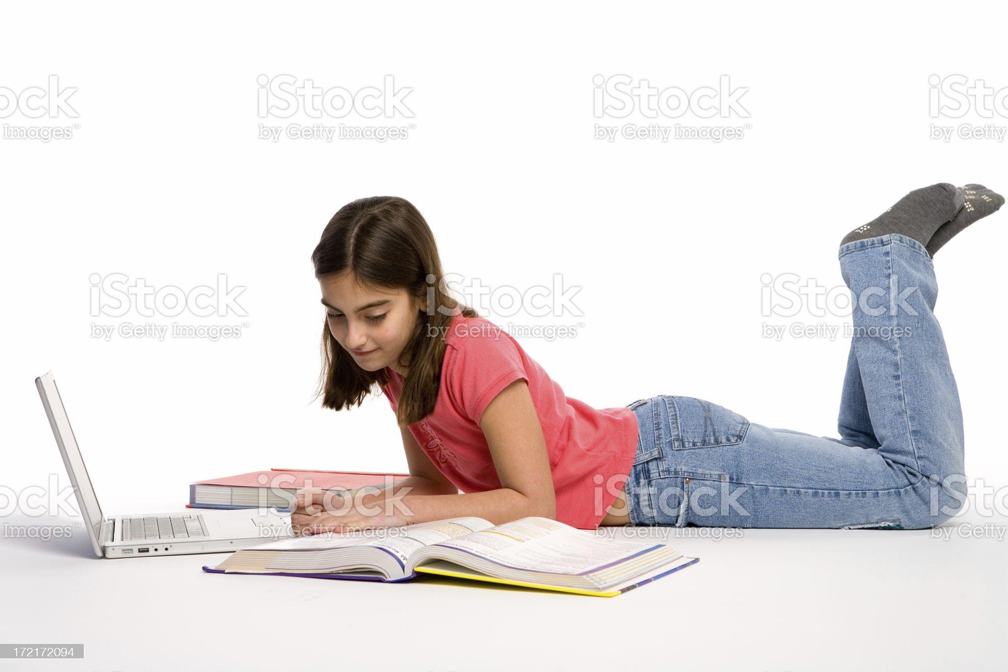 Student doing Homework royalty-free stock photo