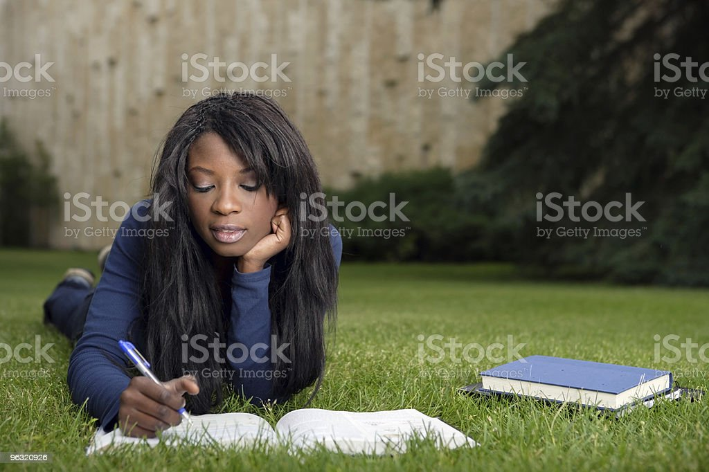 Student doing homework royalty-free stock photo