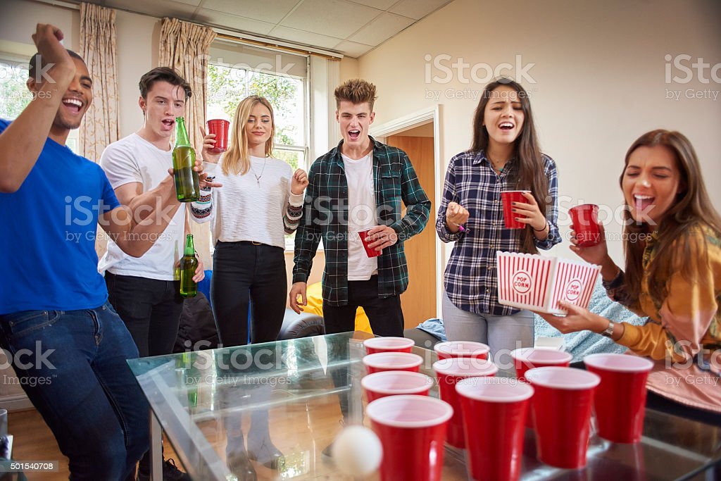 student drinks party stock photo