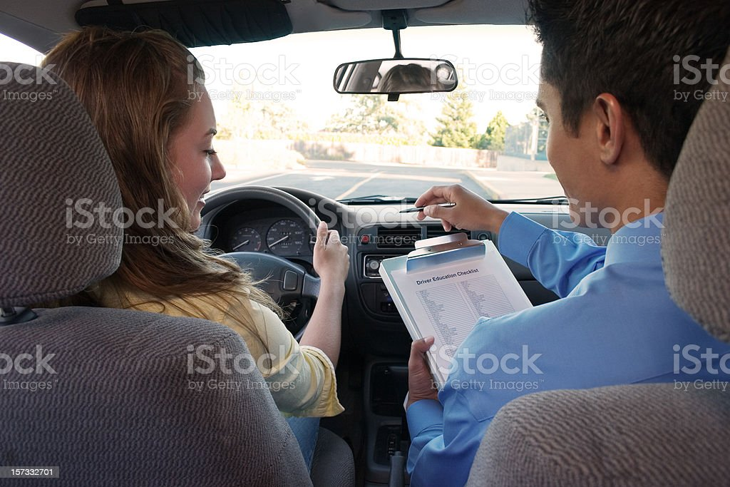 Student Driver Instructions stock photo