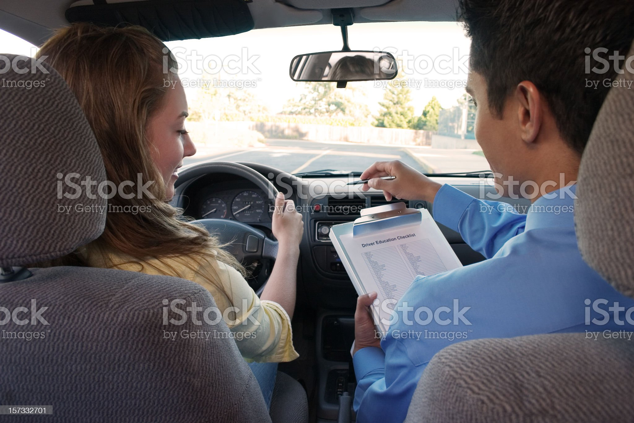 Student Driver Instructions royalty-free stock photo