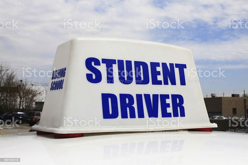 Student Driver stock photo