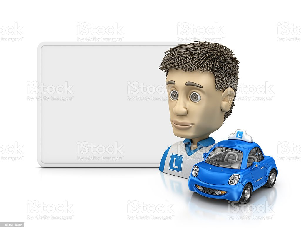 student driver profile royalty-free stock photo