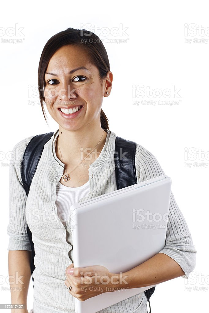 student getting ready for school royalty-free stock photo