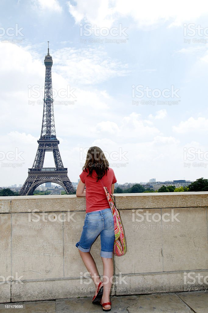 Student girl at Paris royalty-free stock photo