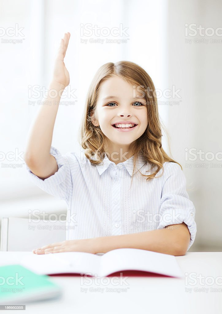 student girl studying at school royalty-free stock photo