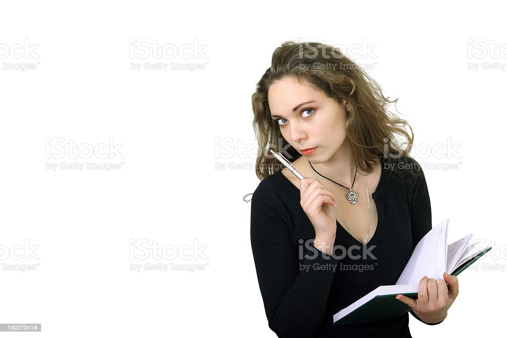 Student girl with notebook royalty-free stock photo