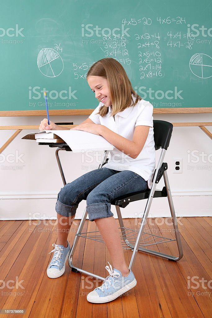 Student going to school royalty-free stock photo