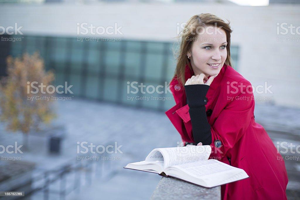 Student happy to study. royalty-free stock photo