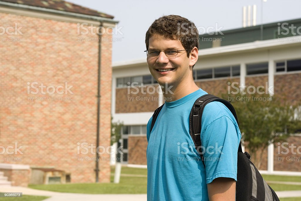 Student Headed to Class royalty-free stock photo