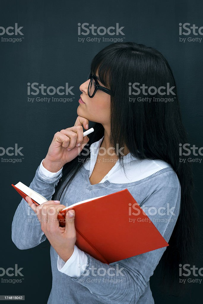 Student holding book royalty-free stock photo