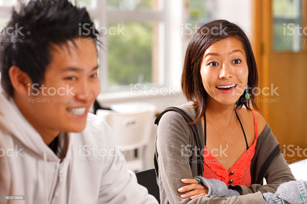 Student in Classroom Surprised royalty-free stock photo