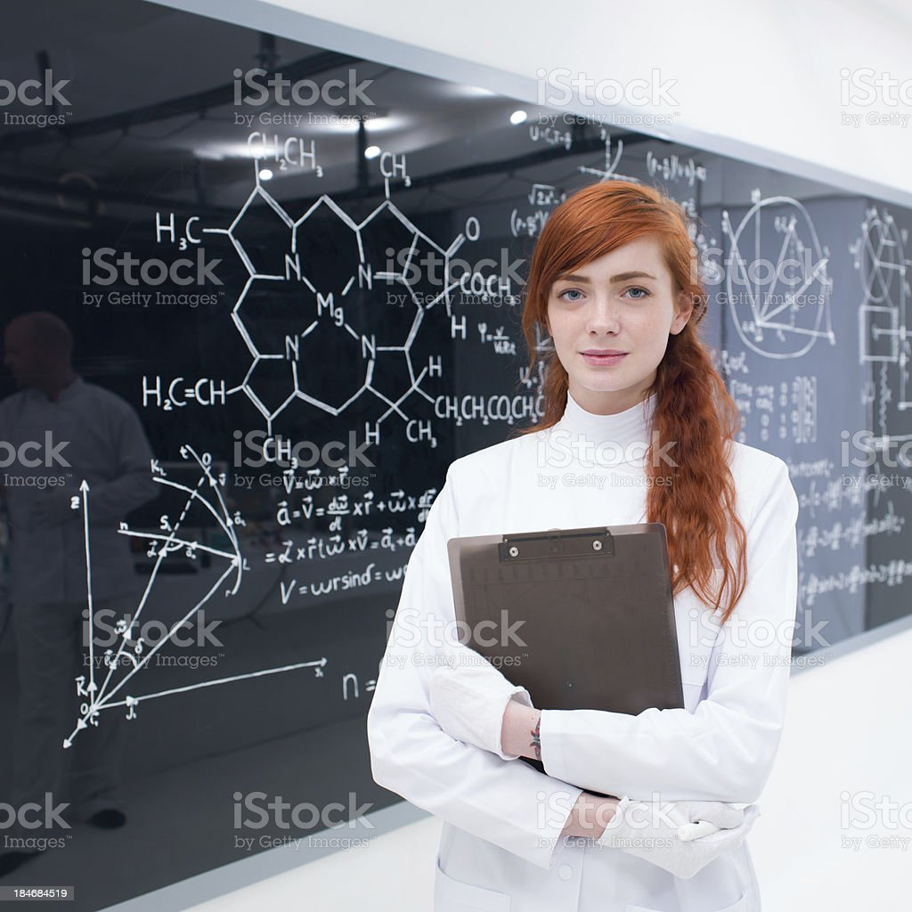 student in laboratory stock photo