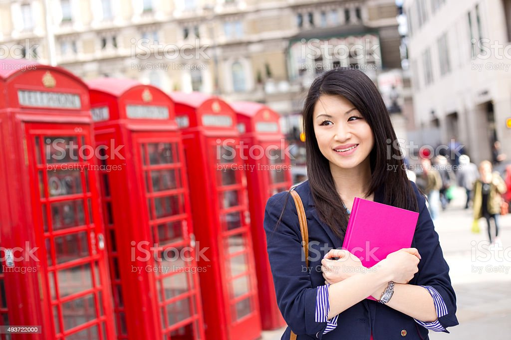 student in London royalty-free stock photo