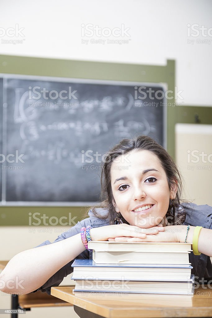 Student in the classroom royalty-free stock photo