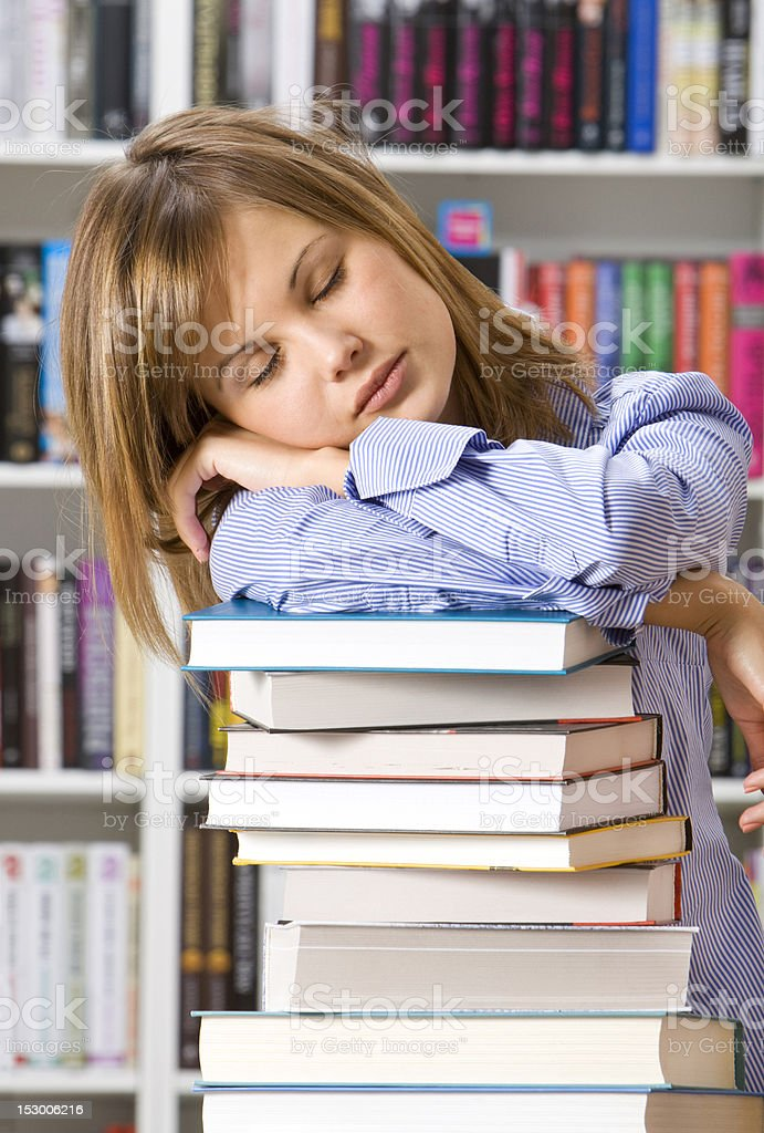 Student in the library royalty-free stock photo