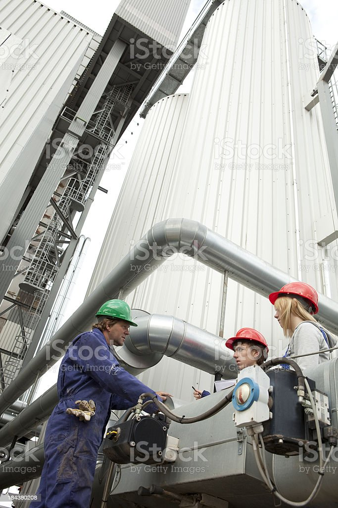 Student learn about engineering  from an experienced instructor. royalty-free stock photo