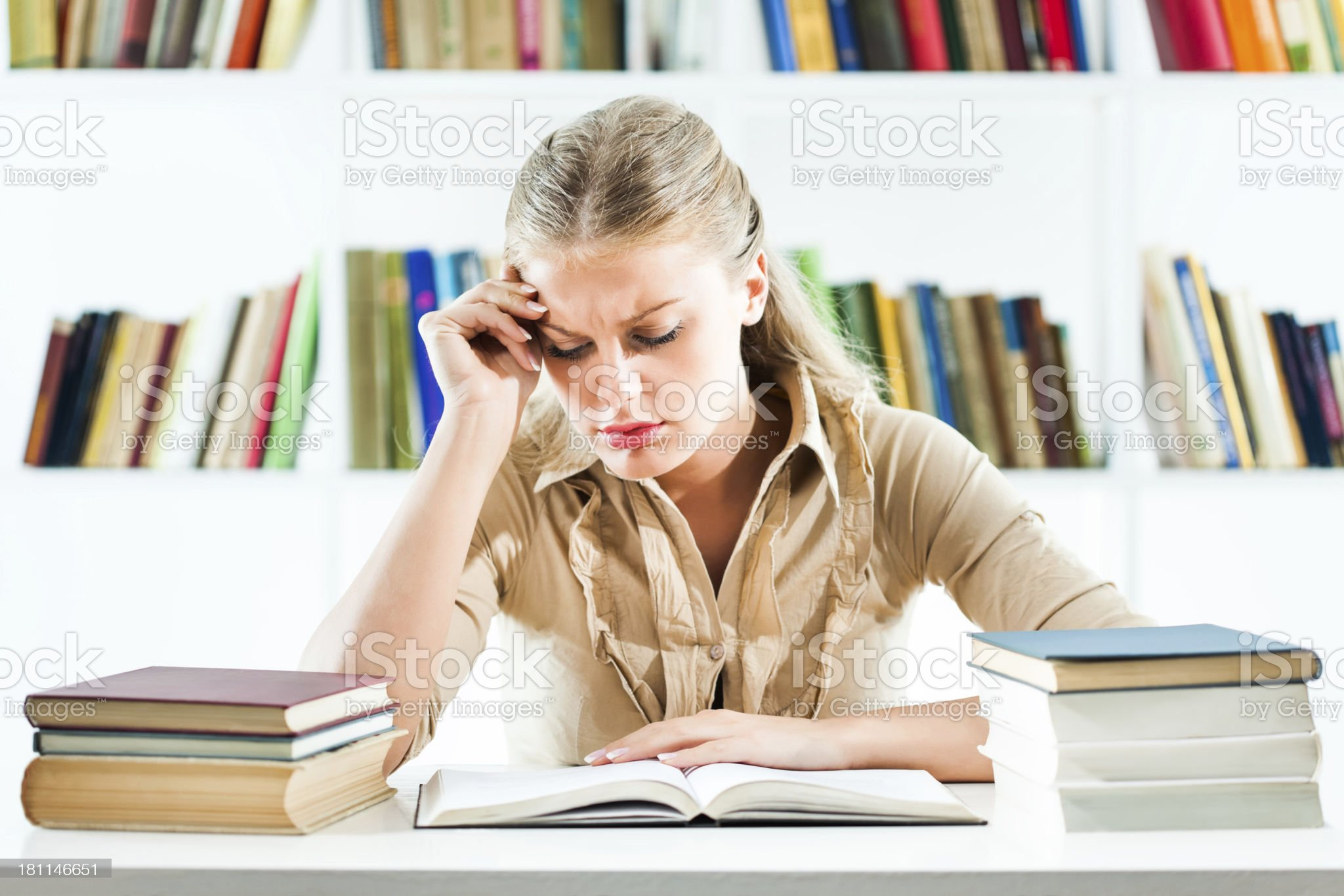 Student learning royalty-free stock photo