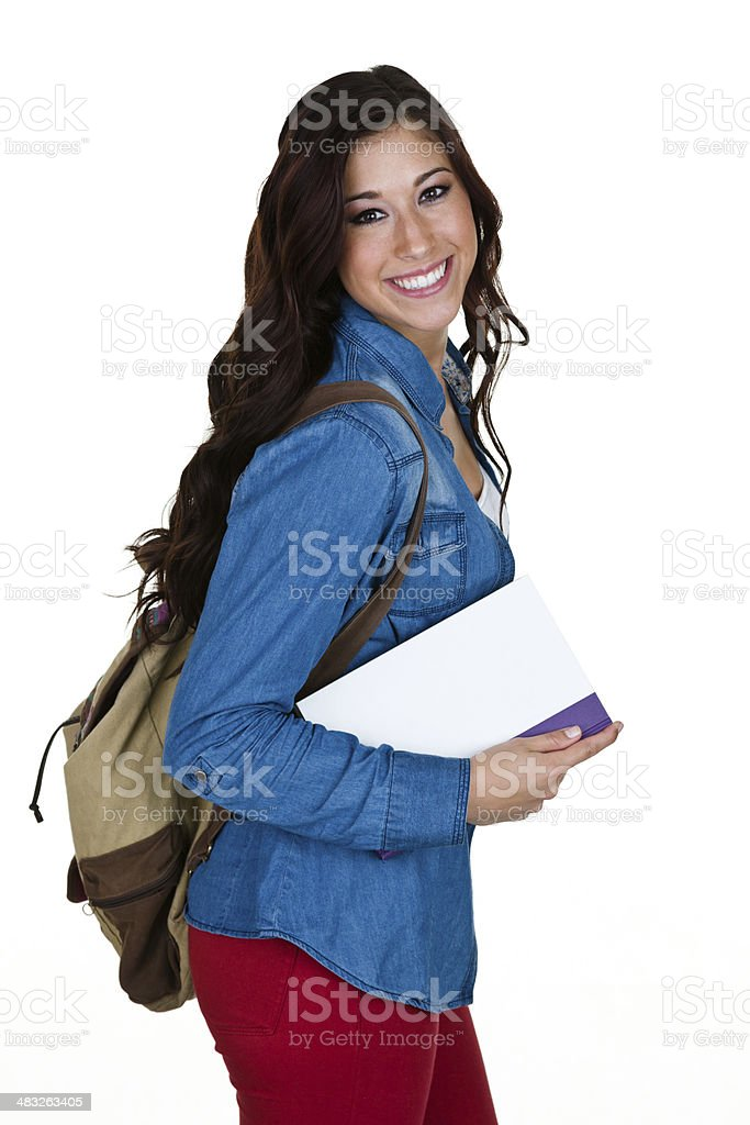 Student looking back to viewer royalty-free stock photo