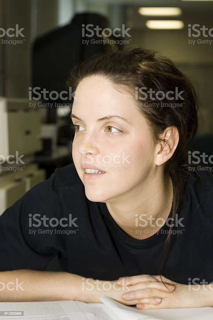 Student Looking royalty-free stock photo