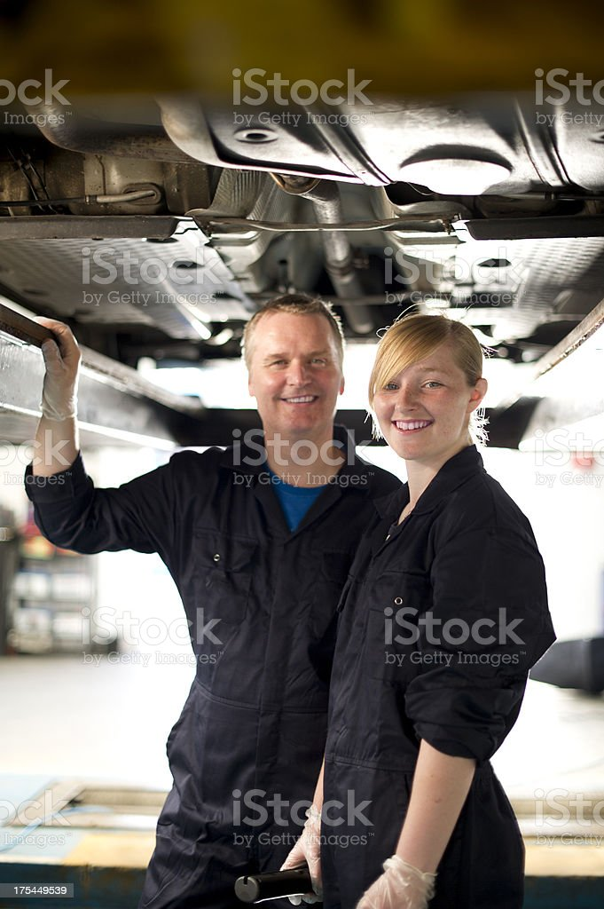 student mechanic royalty-free stock photo