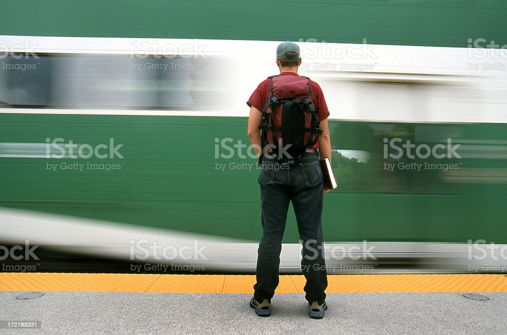 Student misses the train royalty-free stock photo