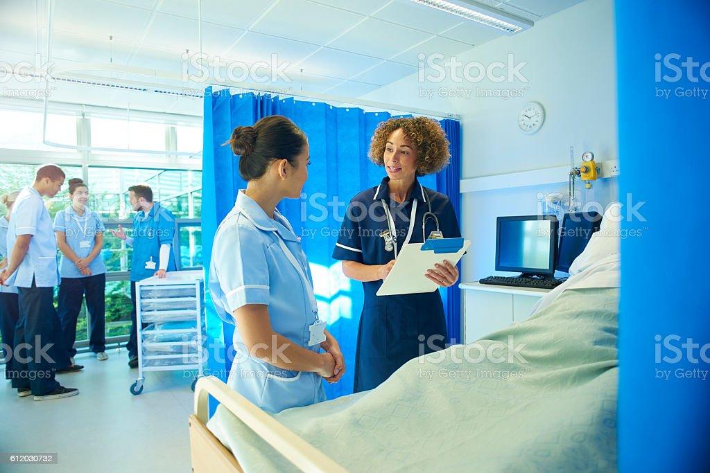 student nurses on the ward stock photo