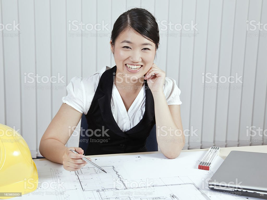 Student of architecture royalty-free stock photo