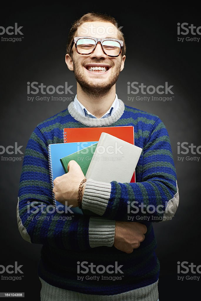 Student of college royalty-free stock photo