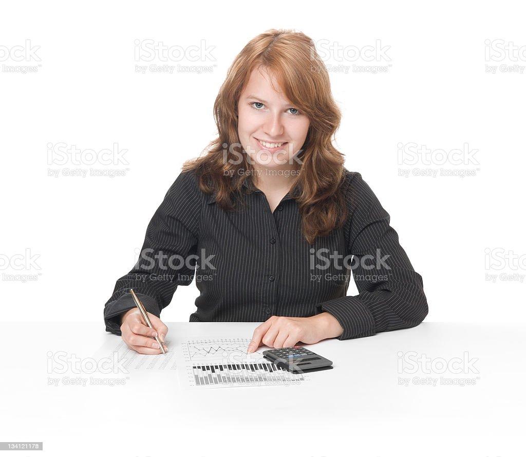 Student of economy stock photo