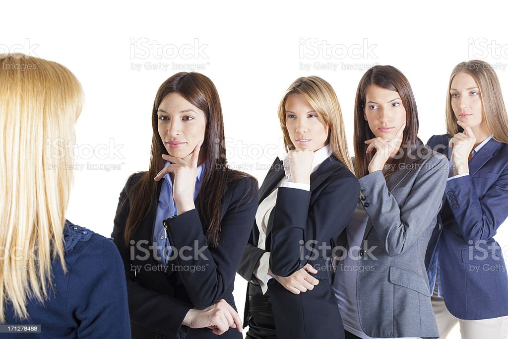 Student on an interview royalty-free stock photo