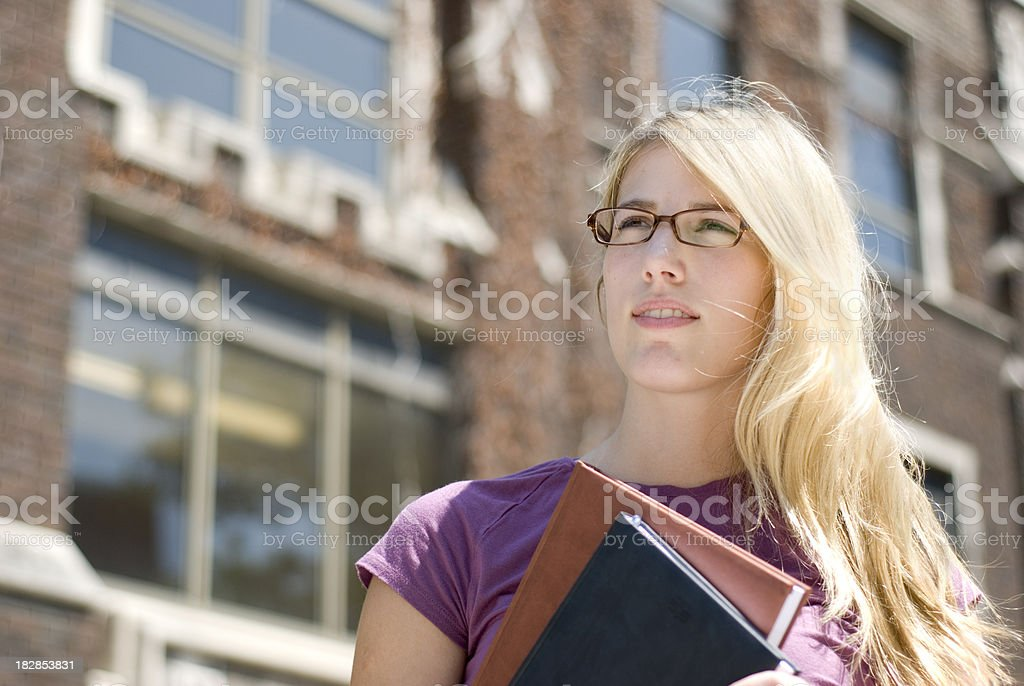 Student on Campus royalty-free stock photo