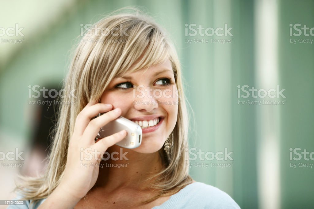 Student on cellphone,portrait royalty-free stock photo