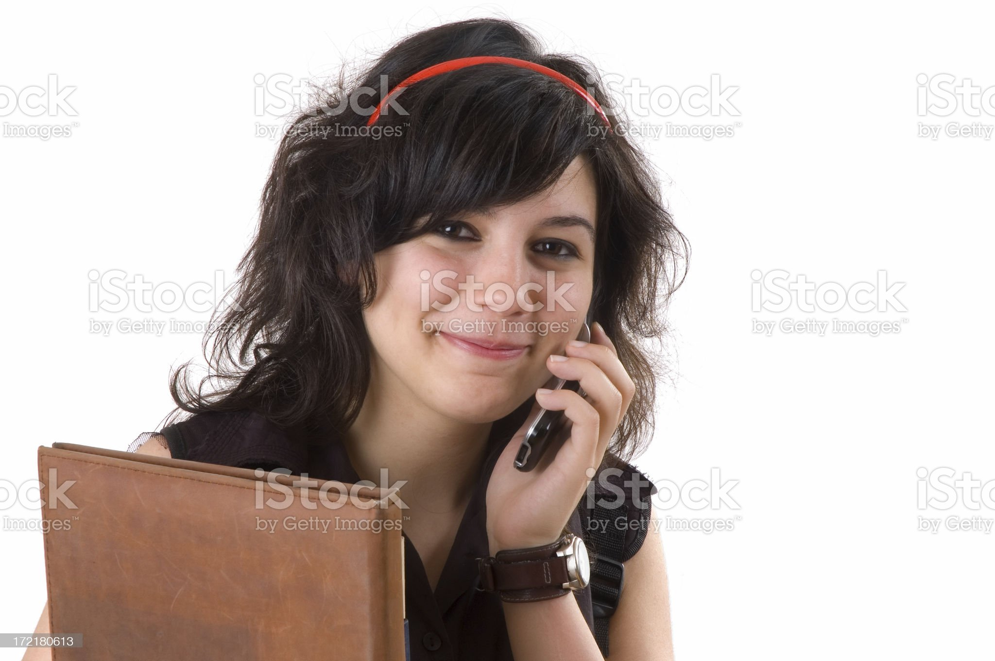 student on the phone royalty-free stock photo