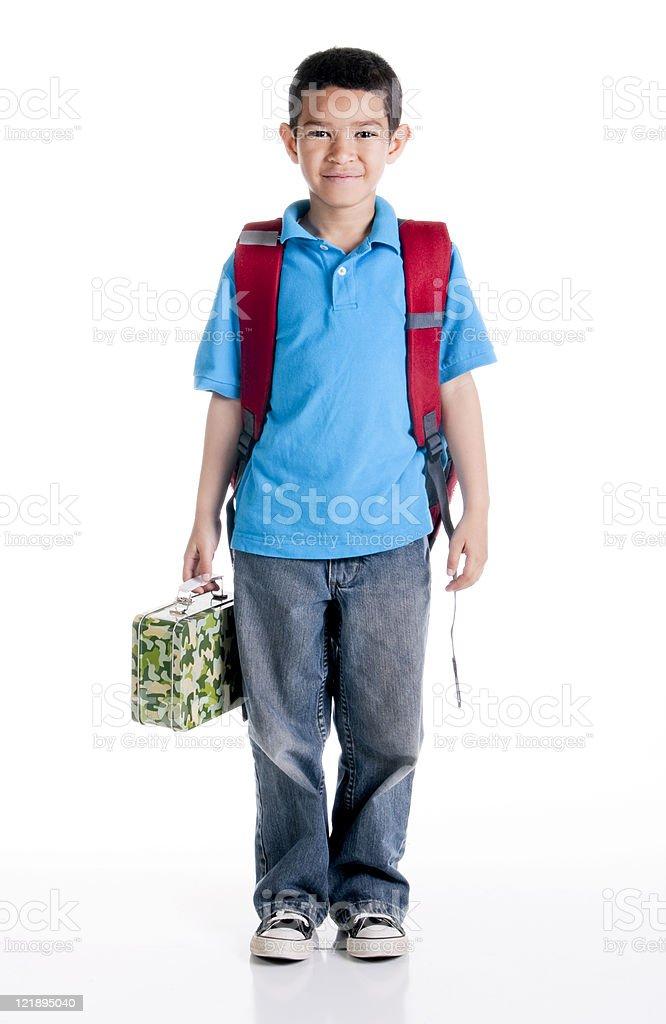 Student on White Background royalty-free stock photo