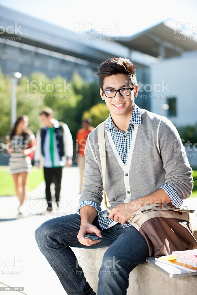 Student outdoors, portrait royalty-free stock photo