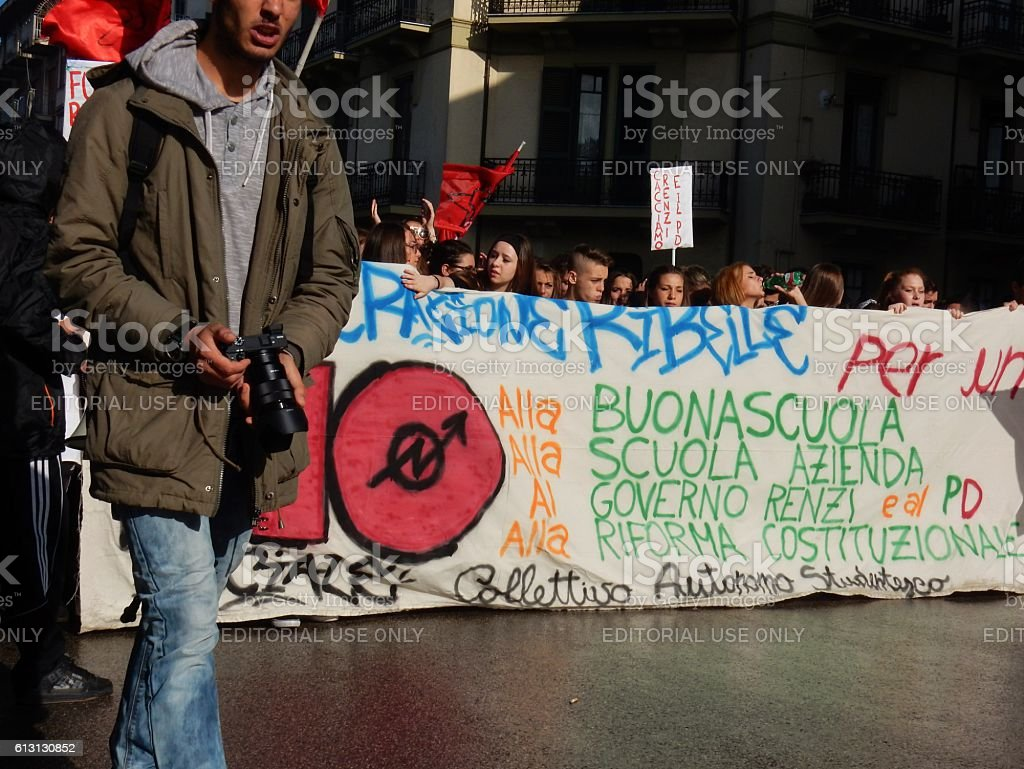 Corteo studentesco stock photo